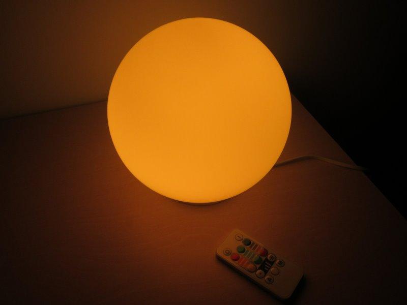 Ein rundes Nachtlicht