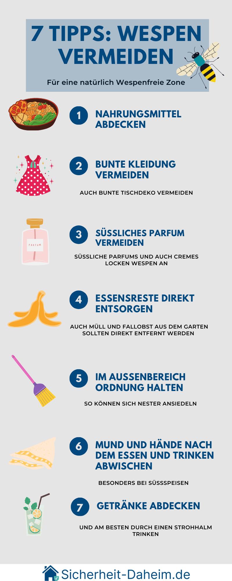 Tipps um Wespen zu vermeiden