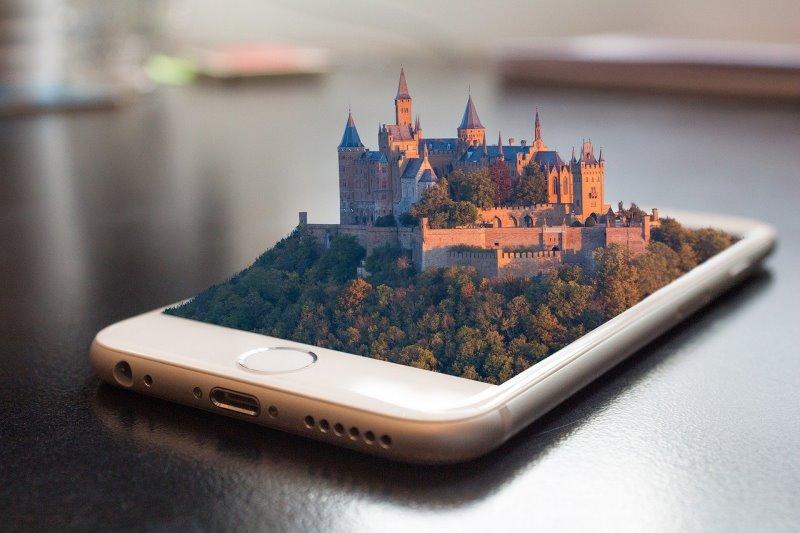 Handy als Burg