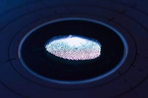 Fingerprint auf einem Bildschirm