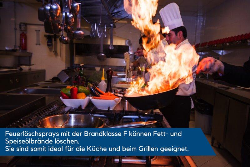 Feuerlöschspray für die Küche